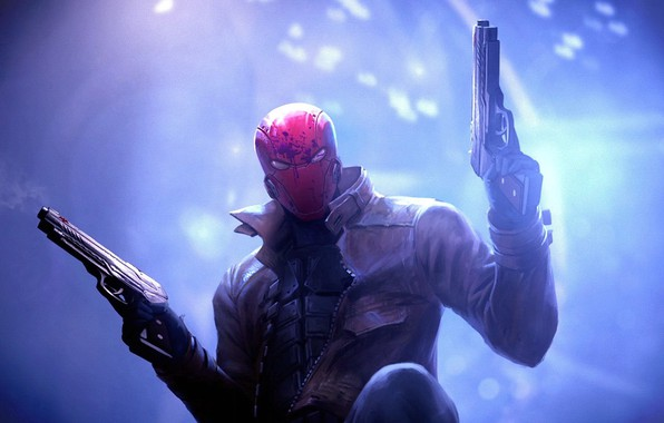 Picture weapons, guns, DC Comics, antihero, Red Hood, Red Hood