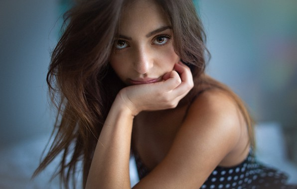Picture girl, Model, long hair, dress, brown hair, brown eyes, photo, bokeh, lips, face, brunette, portrait, …