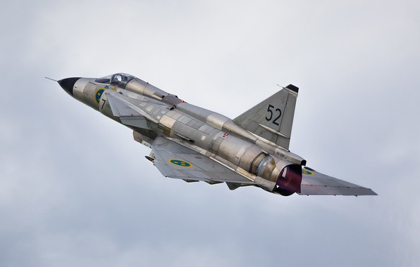 Picture the sky, flight, combat aircraft, CAN 37 Viggen