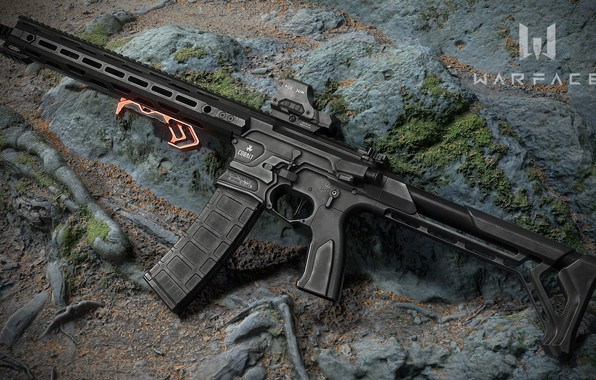 Picture rendering, weapons, rifle, weapon, render, custom, render, 3d art, ar-15, assault rifle, assault Rifle, Cobalt …