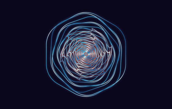 Picture concept, wallpaper, blue, background, lines, cool, dots, cinema4d, graphic, abstarct, consept