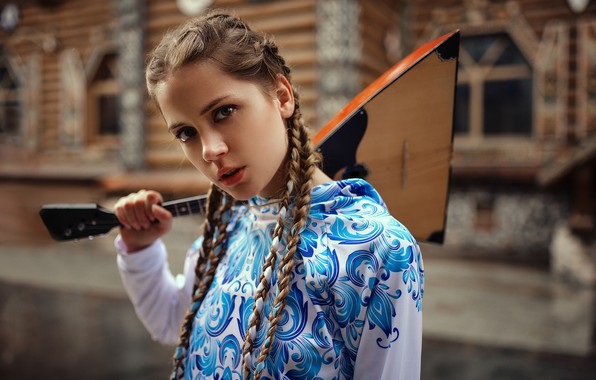 Picture model, Girl, balalaika, Kseniya Kokoreva, Ksenia Kokoreva, Yuri G See Also:
