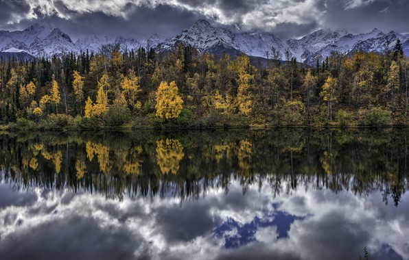 Picture Alaska, United States, Water Mirror, Chickaloon