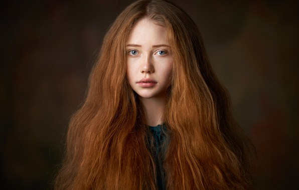 Picture portrait, girl, redhead, Alexander Vinogradov