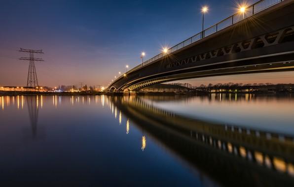Picture bridge, lights, the evening, Germany, Berlin, Minna-The Death Of Hagen-Bridge