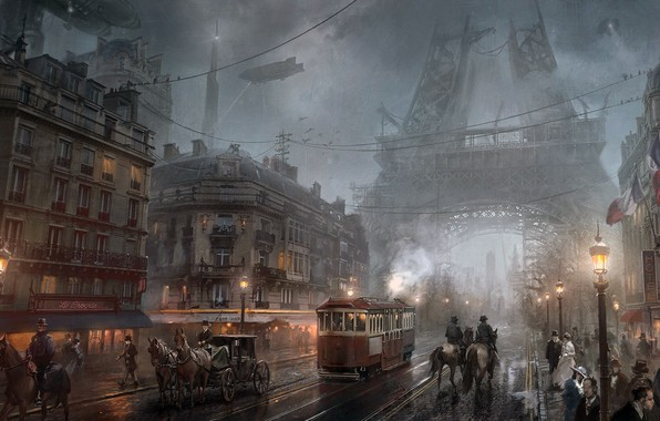 Picture Paris, video game, Steampunk, Atomhawk Design, The Order 1886- Paris, Sony Game, steampunk city