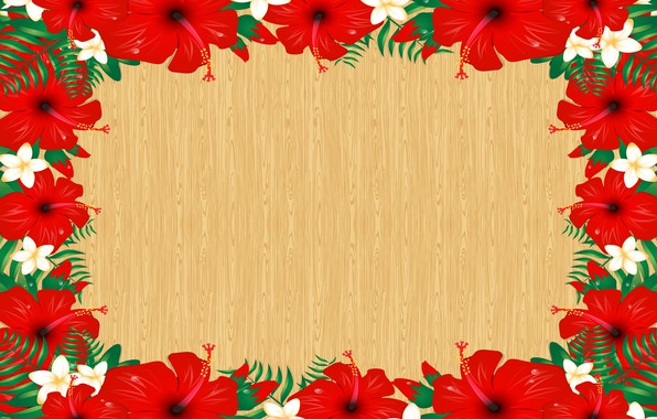 Picture flowers, postcard, template, blank