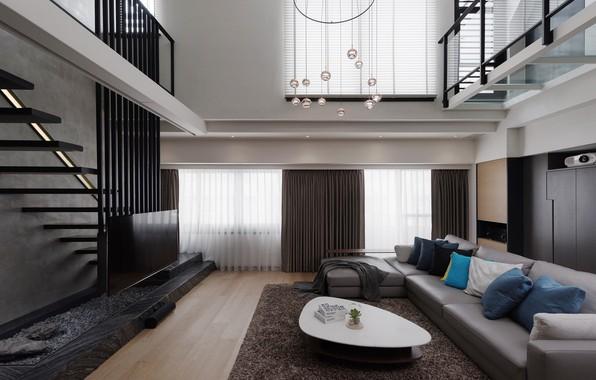 Photo wallpaper design, style, furniture, interior, living room