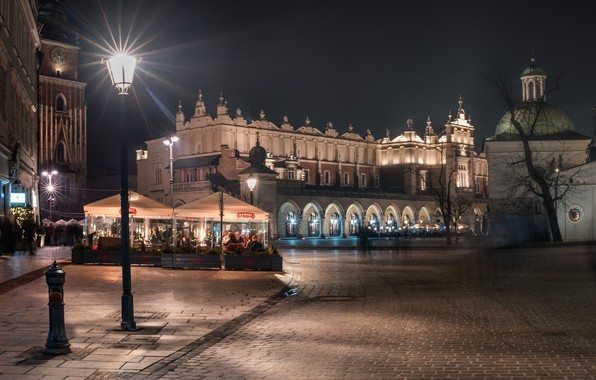 Picture area, Poland, lights, Krakow