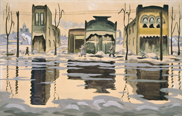 Picture 1920, Charles Ephraim Burchfield, February Thaw