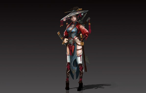 Picture Girl, Fantasy, Art, Asian, Style, Illustration, Figure, Character, jae gun hyun, Satkat