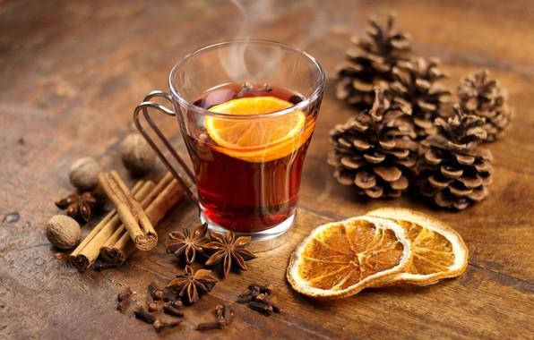 Picture tea, orange, cinnamon, bumps