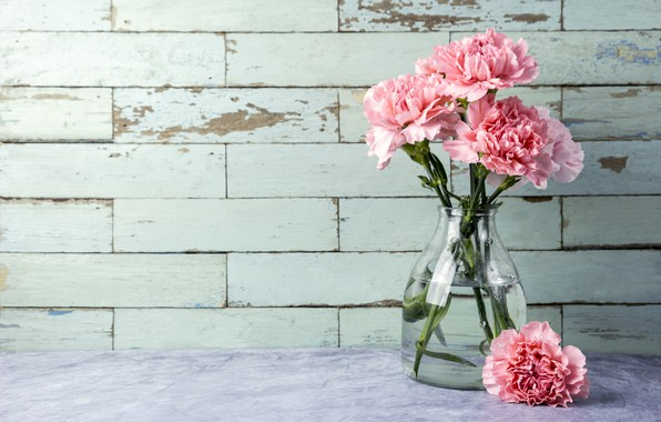 Picture flowers, bouquet, pink, pink, flowers, beautiful, clove, carnation