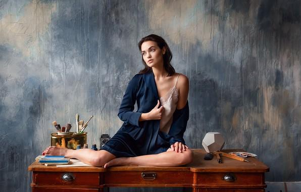 Picture pose, model, Girl, legs, sitting, Yaroslav, Anastasia Barmina