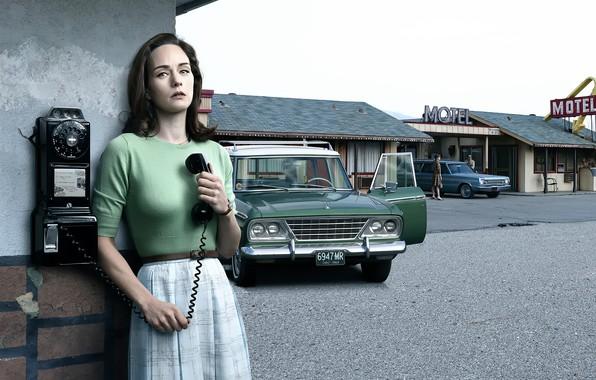 Picture auto, girl, retro, 1965, history, California, Studebaker, Motel, Stories