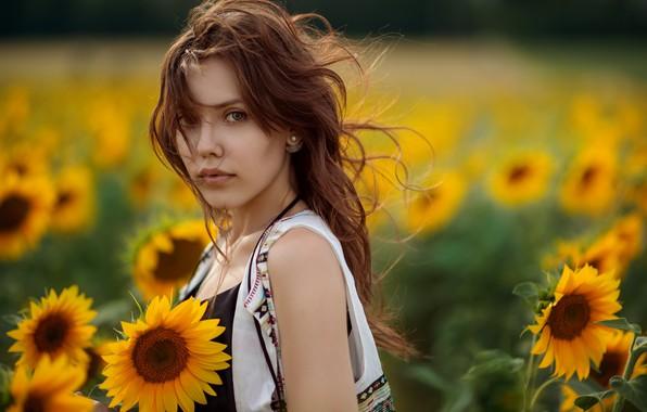 Picture summer, girl, nature, portrait