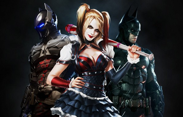 Picture The game, Blonde, Batman, Costume, Hero, Superhero, Hero, Batman, Villain, Harley Quinn, Blonde, Game, Bruce …