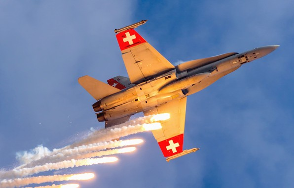 Picture Fighter, LTC, The Swiss air force, F/A-18 Hornet, Thermal trap