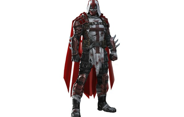 Picture cross, armor, DC Comics, knight, Azrael, Azrael, the knight of Dumas, Michael Lane