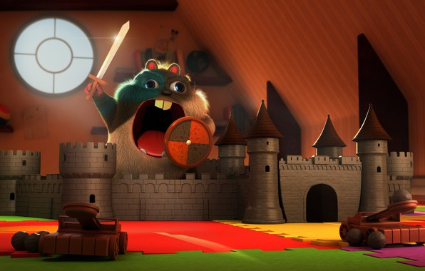 Picture castle, the game, art, children's, hamster, Stef Velzeboer, Rise of the Hamsterus