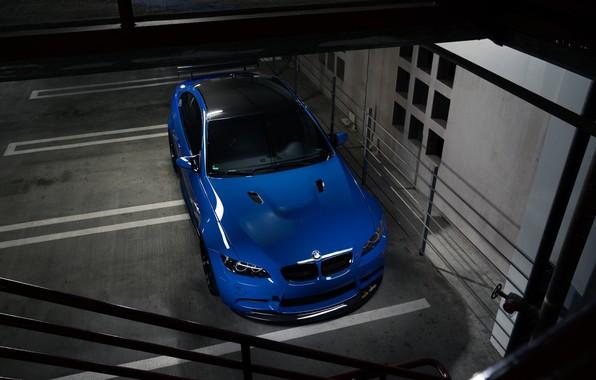 Picture BMW, Blue, E92, Sight