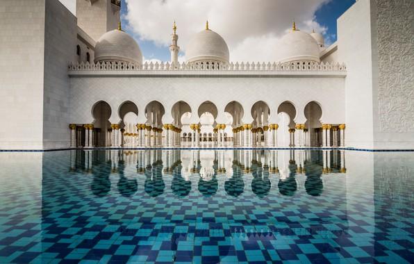 Picture mosque, UAE, Abu Dhabi