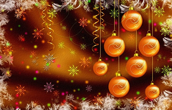 Picture bright colors, snowflakes, rendering, background, figure, New Year, Christmas, serpentine, picture, canvas, Christmas decorations, winter …