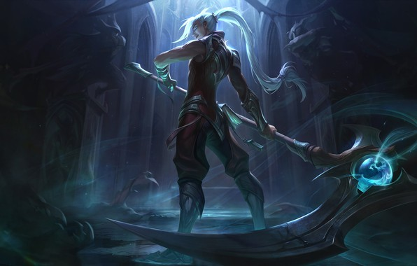 Picture the game, fantasy, art, location, Riot Games, Jean Go, Soulhunter Kayn Splash Art