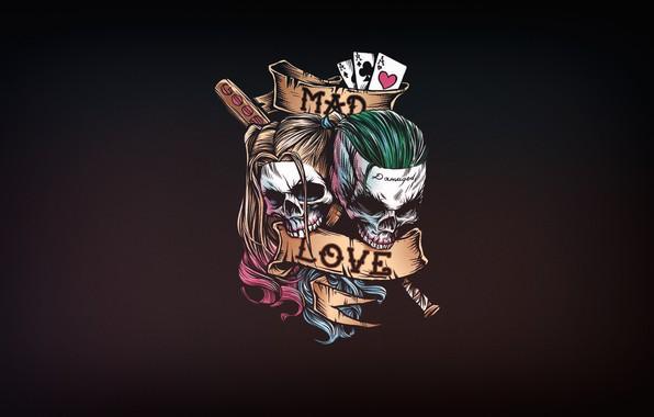 Picture Minimalism, Joker, Art, Joker, Harley Quinn, DC Comics, Harley Quinn, Crazy love, Crazy love, Mad …