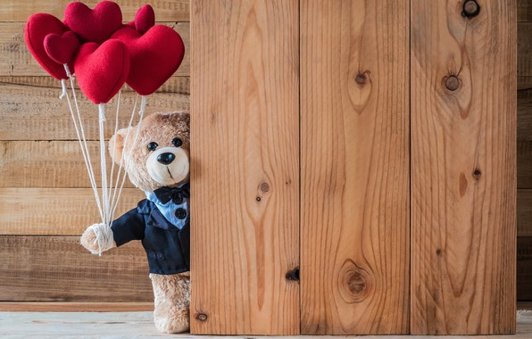 Picture love, toy, heart, bear, hearts, red, love, bear, heart, wood, romantic, teddy, valentine's day, gift, …
