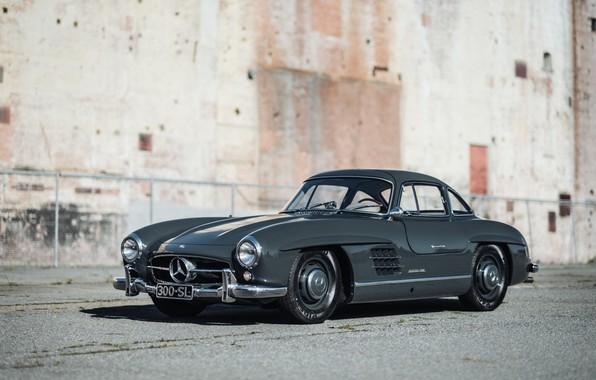 Picture Grey, Mersedes Benz 300SL, Classic car