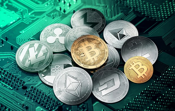 Picture green, green, coins, coins, cryptocurrency, cryptocurrency