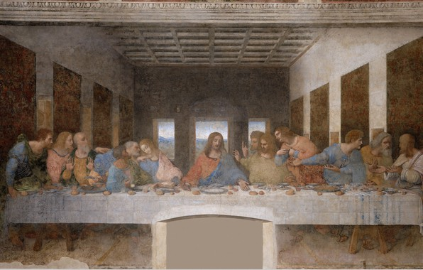 Picture picture, mural, painting, art, the middle ages, The last supper, the apostles, Christ, Leonardo da …