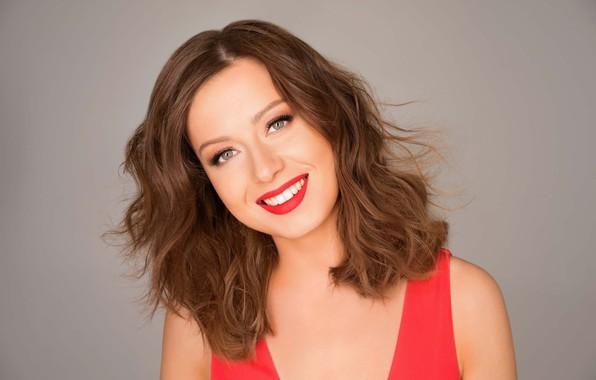 Picture look, pose, smile, makeup, actress, singer, Julia Savicheva
