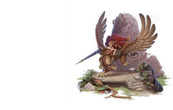 Picture art, Griffin, Orc, Concept Artist, fantasy, Dmitry Khrapovitsky, Arcana_Grif