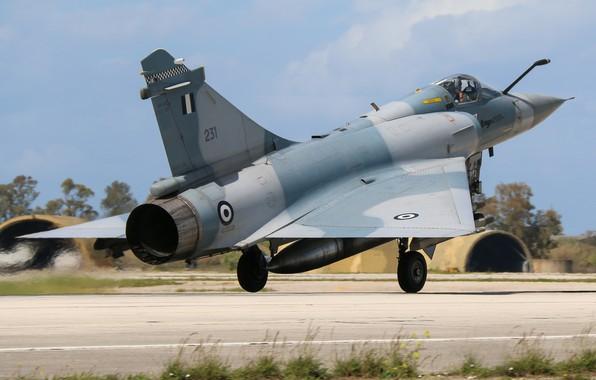 Picture Grass, Fighter, Landing, Mirage 2000, Greek air force, Hellenic Air Force, Dassault Mirage 2000, Dassault …