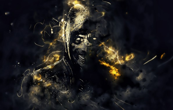Picture Art, Mortal Kombat, Scorpion, Game Art, Andrey VEL Kustarev, by Andrey VEL, Andrey VEL, by …