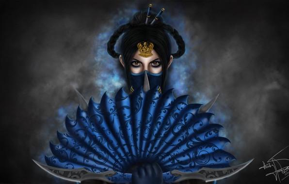 Picture Mortal Kombat, Kitana, Illustration, Fanart, Game Art, Kitana Fanart, Royal Assassin, Thaísa Hassegawa, by Thaísa …