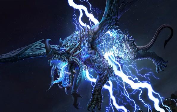 Picture lightning, dragon, lightning, dragon, thunderbolt, thunder
