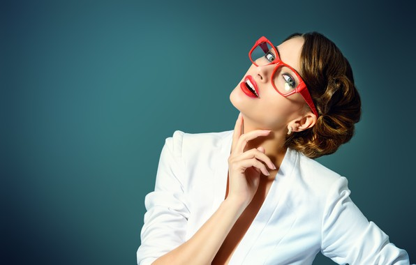 Picture girl, pose, style, background, model, hair, hand, glasses, hairstyle, gesture