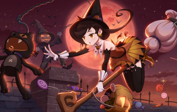 Picture holiday, girl, Halloween