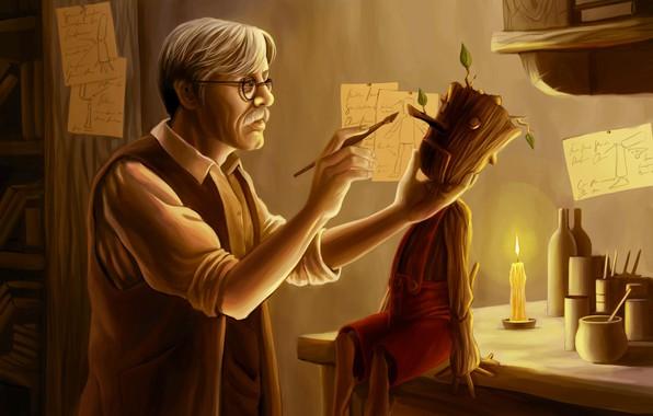Picture log, Creator, Pinocchio