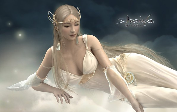 Picture background, fiction, elf, picture, goddess Drada, Light Alliance, Shaiya: Light and Darkness, fantasy world