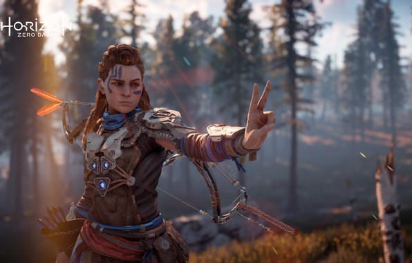 Picture postapokalipsis, exclusive, Playstation 4, Guerrilla Games, the red-haired girl, Horizon Zero Dawn, Eloy