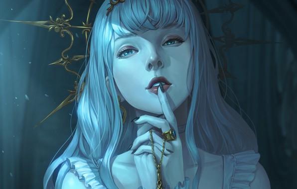 Picture look, girl, ring, fantasy, art, decoration, Diadema, art
