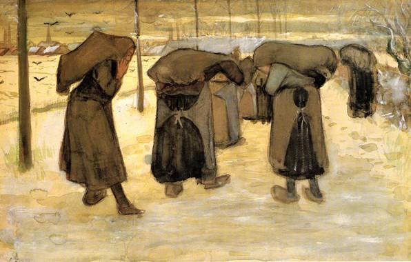 Picture winter, Vincent van Gogh, Women Miners