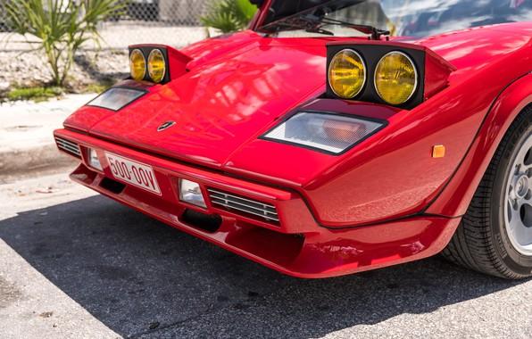 Picture Red, Bumper, The hood, Lights, Before, Lamborghini Countach