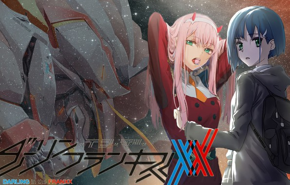 Picture background, two, Ichigo, 002, Darling In The Frankxx, Cute in France