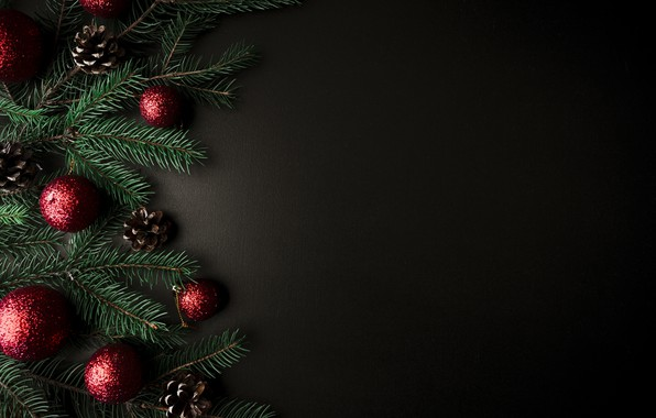 Picture balls, tree, New Year, Christmas, Christmas, balls, New Year, decoration, Merry, fir tree, fir-tree branches