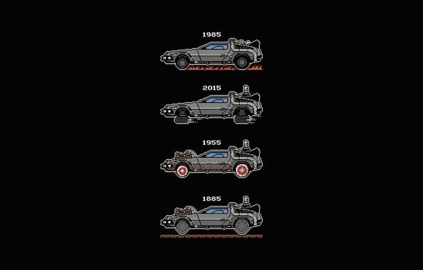Picture Auto, Minimalism, Machine, Style, Background, DeLorean DMC-12, Art, Art, The film, Style, DeLorean, DMC-12, Fiction, …